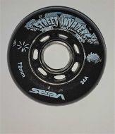 SEBA Street Invaders 72mm/84A juodi, 4vnt.